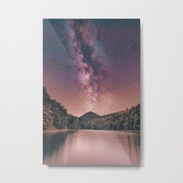 Milky Way Stars Night Sky Metal Print