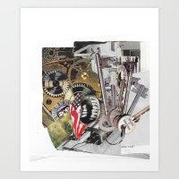American Skeletons Art Print
