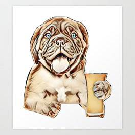 beer puppy above alcohol Art Print