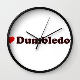 I heart Dumbledore Wall Clock