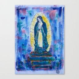 Virgen de guadalupe in blue Canvas Print
