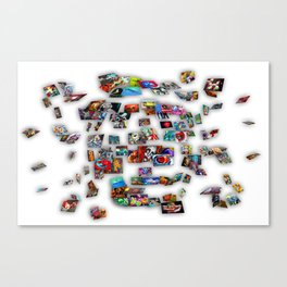 expolding ball Canvas Print