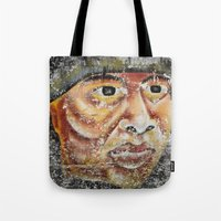 indian Tote Bags featuring Indian by Lia Bernini