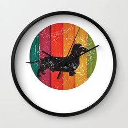 Vintage Retro Dachshund Weiner Dog for Mom or Dad Product Wall Clock