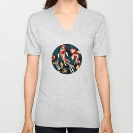 Metallic Koi Unisex V-Neck