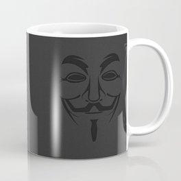 Minimalist Anonymous / Occupy / Guy Fawkes Mask  Coffee Mug