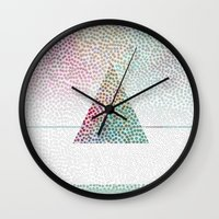 confetti Wall Clocks featuring CONFETTI by Kath Korth