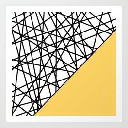 Lazer Dance YY Art Print