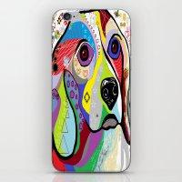 beagle iPhone & iPod Skins featuring BEAGLE by EloiseArt