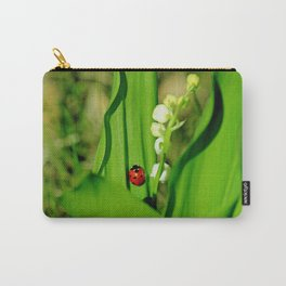 The Ladybug and Lily of the valley Carry-All Pouch