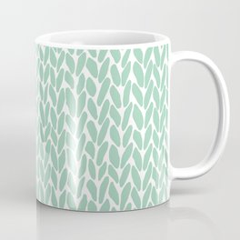 Hand Knit Zoom Mint Coffee Mug