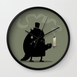 Scaredy Monster Wall Clock