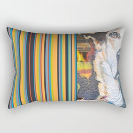 Few flowers as a tribute to the Loukanikos dog from Elisavet Rectangular Pillow