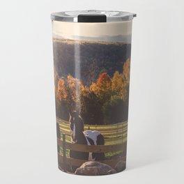 New England Fall Drive Travel Mug
