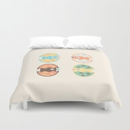 Cute hatched birds Duvet Cover