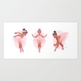 MINI BALLERINAS Art Print