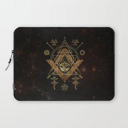 Mystical Sacred Geometry Ornament Laptop Sleeve
