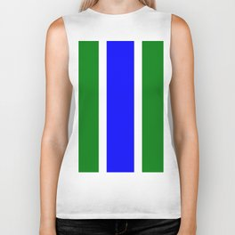 TEAM COLORS 10...BLUE,GREEN Biker Tank