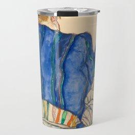"Egon Schiele ""Seated Woman, Back View"" Travel Mug"