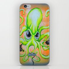 Video Game Playing Octopus iPhone & iPod Skin