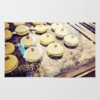 macaron Area & Throw Rugs featuring macaron by inourgardentoo