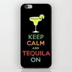 Keep Calm Tequila - black iPhone & iPod Skin