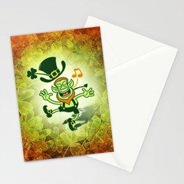 Irish Leprechaun Dancing and Singing Stationery Cards