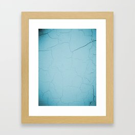 photo with damaged wall texture in soft blue tone ready for art, fashion, furniture, iphone cases Framed Art Print