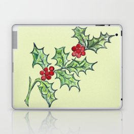 Holly Sprig (lite green) Laptop & iPad Skin
