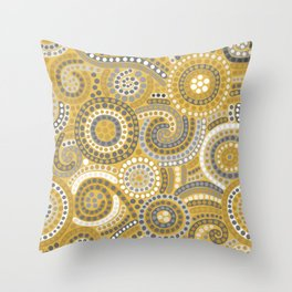 Ganges (Yellow) Throw Pillow