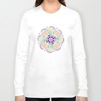 buddhism Long Sleeve T-shirts featuring Daisy Lotus Meditation by DebS Digs Photo Art