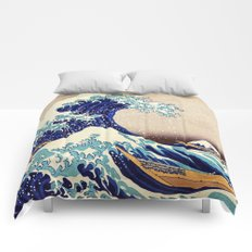 Katsushika Hokusai The Great Wave Off Kanagawa Comforters