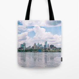 1513 - Philadelphia Cityscape from New Jersey Tote Bag