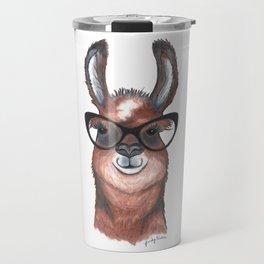 Hipster Llama Travel Mug