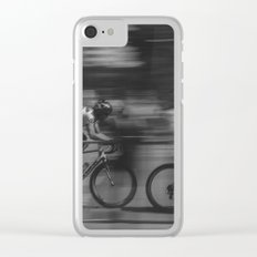 cycling race Clear iPhone Case