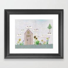cloudy day Framed Art Print