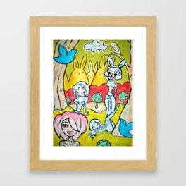 4 girls Framed Art Print