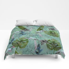 tropical forest Comforters