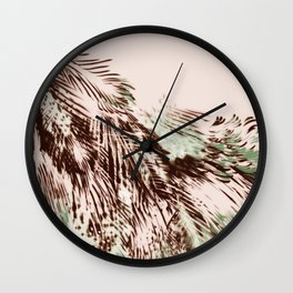 feather texture on circle Wall Clock