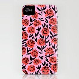 Red Peonies iPhone Case