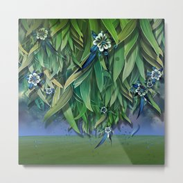 """""""Spring Forest of Surreal Leaf litter and flowers"""" Metal Print"""