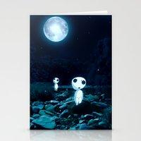 kodama Stationery Cards featuring Princess Mononoke (Kodama) by pkarnold + The Cult Print Shop