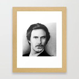 """I'm Ron Burgundy?"" Framed Art Print"