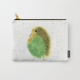Whimsical Parakeet Watercolor Carry-All Pouch