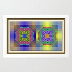 Twin Mandalas II Art Print