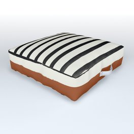 Burnt Orange x Stripes Outdoor Floor Cushion