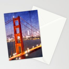 City Art Golden Gate Bridge Composing Stationery Cards