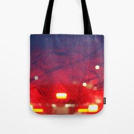 steamy car light bokeh Tote Bag