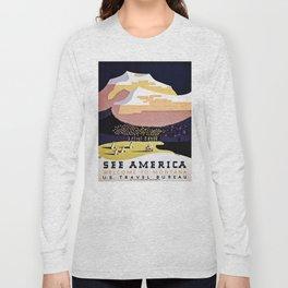 See America Montana travel ad Long Sleeve T-shirt