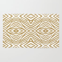 Fallow Neutral Zebra Rug